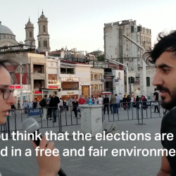 Hanne Busra interviews voters on the streets of  Besiktas and Taksim in Istanbul
